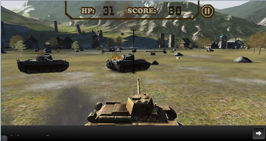 《战地坦克(Battlefield Tank)》是一款3D坦克射击游戏,挑战您的战略思想,坦克的瞄准还有躲避技能。它坐落在一个被数千敌人坦克包围的小镇,你的任务是摧毁敌人的坦克,同时获得尽可能多尽可能长时间生存。
