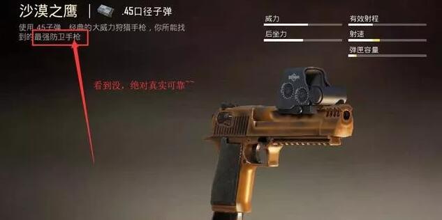 和平精英沙漠之鹰伤害属性测评 这是一把十分霸道的武器!