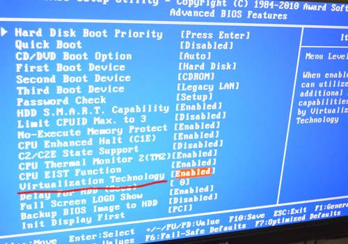 VT检测工具以及如何在BIOS中开启VT(CPU虚拟化)